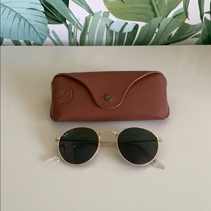 Ray Ban Gold Round Frame